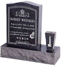 Serp Top Upright Grave Marker
