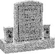 18inch_x_6inch_x_24inch_Serp_Top_Upright_Headstone_polished_front_and_back_with_34inch_Base_and_two_square_tapered_Vases_in_Grey_with_design_B-3