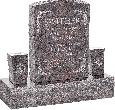 18inch_x_6inch_x_24inch_Serp_Top_Upright_Headstone_polished_front_and_back_with_34inch_Base_and_two_square_tapered_Vases_in_Himalayan_with_design_B-6
