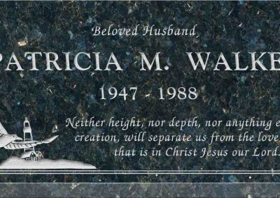 20inch_x_10inch_x_3inch_Flat_Granite_Headstone_in_Emerald_Pearl_with_design_S-1