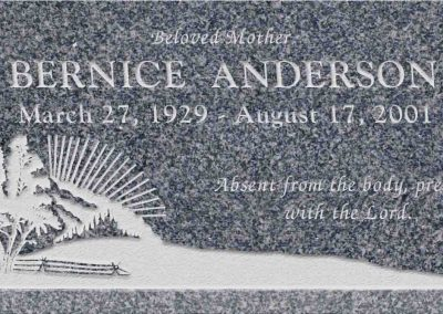 20inch_x_10inch_x_3inch_Flat_Granite_Headstone_in_Imperial_Grey_with_design_S-3