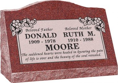 Slant Granite Headstone