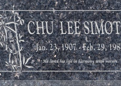 24inch_x_12inch_x_3inch_Flat_Granite_Headstone_in_Blue_Pearl_with_design_B-12