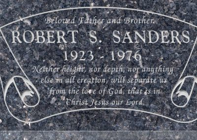 24inch_x_12inch_x_3inch_Flat_Granite_Headstone_in_Blue_Pearl_with_design_B-7