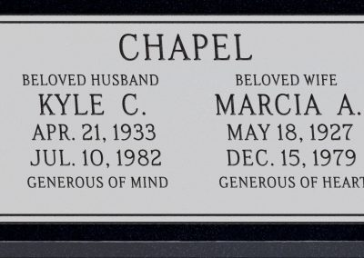 24inch_x_12inch_x_3inch_Flat_Granite_Headstone_in_Imperial_Black_with_design_F-117,_Sanded_Panel