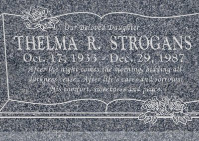 24inch_x_12inch_x_3inch_Flat_Granite_Headstone_in_Imperial_Grey_with_design_B-13
