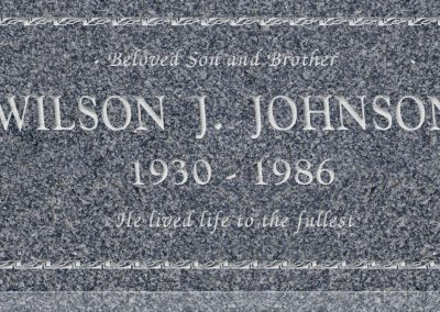 24inch_x_12inch_x_3inch_Flat_Granite_Headstone_in_Imperial_Grey_with_design_B-3