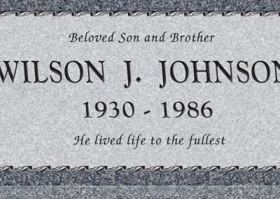 24inch_x_12inch_x_3inch_Flat_Granite_Headstone_in_Imperial_Grey_with_design_B-3,_Sanded_Panel