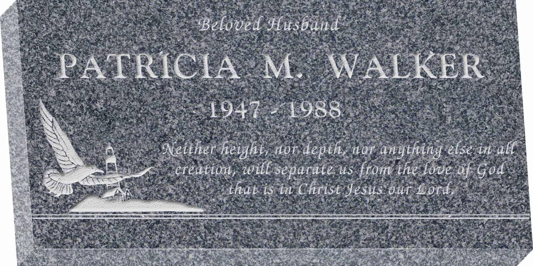 24inch_x_12inch_x_3inch_Flat_Granite_Headstone_in_Imperial_Grey_with_design_S-1