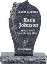 Floral Upright Headstones