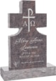 24inch x 6inch x 42inch Cross Upright Headstone polished front and back with 34inch Base in Himalayan