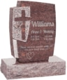 24inch x 6inch x 42inch Cross Upright Headstone polished front and back with 34inch Base in Mahogany
