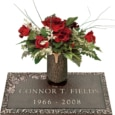 24x12 Dark Bronze Classic Rose 1 and Vase Front Perspective