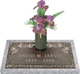 24x12 Dark Bronze Classic Rose 2 with Granite Base and Vase Front Perspective