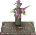 24x12 Dark Bronze Petite Rose and Vase Front Perspective