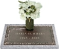 24x12 Dark Bronze Wheat Spray 1 with Granite Base and Vase Front Perspective