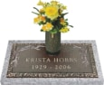24x12 Dark Bronze Wheat Spray 2 with Granite Base and Vase Front Perspective