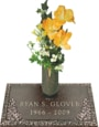 24x14 Dark Bronze Country Rose and Vase Front Perspective