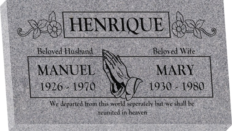 28inch x 16inch x 3inch Flat Granite Headstone in Grey with design SD-321