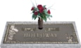 36x13 Dark Bronze Golf Male with Granite Base and Vase Front Perspective