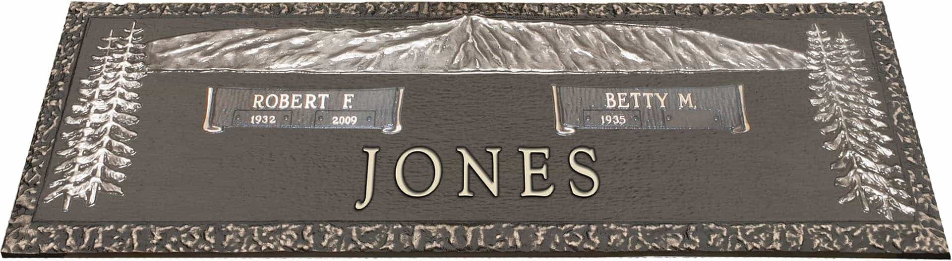 bronze headstone 36x13 companion without base honor life Monument Designs Clip Art Clip Art for Headstones with Leaves