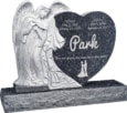 40inch_x_8inch_x_33inch_Leaning_Angel_Heart_Upright_Headstone_polished_all_sides_with_48inch_Base_in_Blue_Pearl_with_design_1