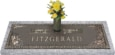 44x14 Dark Bronze Waters Edge with Granite Base and Vase Front Perspective