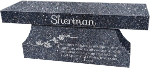 Blue Pearl Cremation Bench