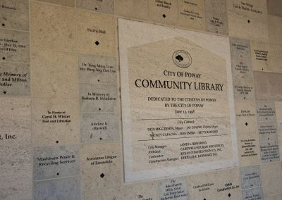 City-of-Poway-Library-Donor-Wall-angle-shot