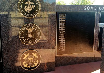 Evergreen-Cemetery-El-Centro-Veterans-Memorial-bronze-military-medallions-close-up