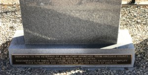 bronze war plaque