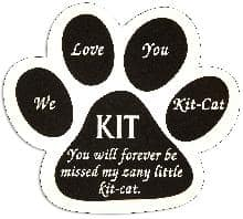 Paw Pet Memorial in Imperial Black PM133BK