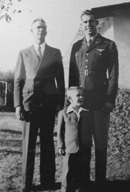 Photo of Aloysius Geis in Uniform with father and brother.