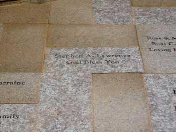 Mission San Luis Rey Parish donor pavers