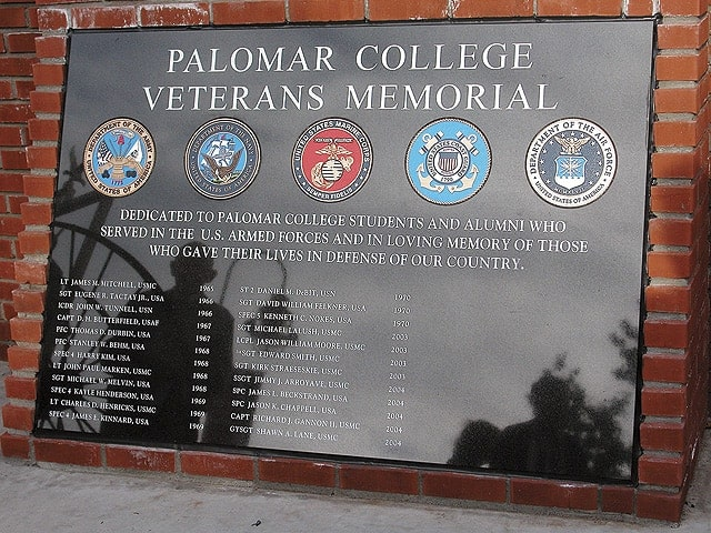 Palomar College Veterans Memorial